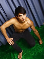 Foxy twink model displays goods on cam